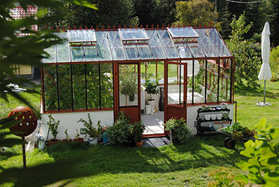 recycled windows freestanding greenhouse